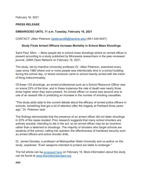JAMA-press release