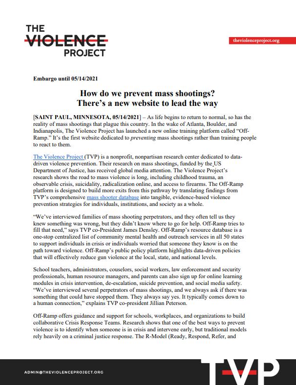Off-Ramp Press Release